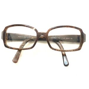 CHANEL rare authentic Chanel brown frames